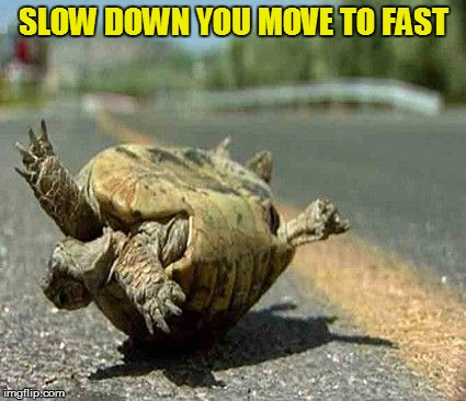 SLOW DOWN YOU MOVE TO FAST | made w/ Imgflip meme maker