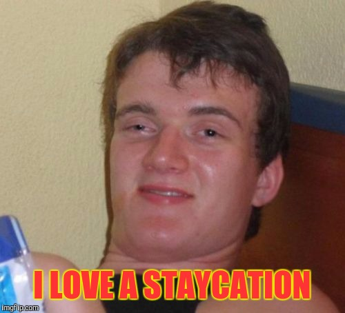 10 Guy Meme | I LOVE A STAYCATION | image tagged in memes,10 guy | made w/ Imgflip meme maker