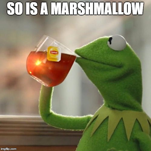 But Thats None Of My Business Meme | SO IS A MARSHMALLOW | image tagged in memes,but thats none of my business,kermit the frog | made w/ Imgflip meme maker
