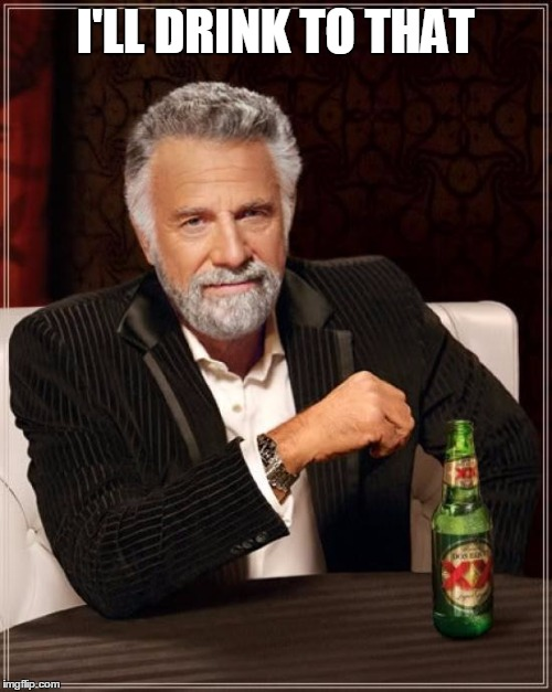 The Most Interesting Man In The World Meme | I'LL DRINK TO THAT | image tagged in memes,the most interesting man in the world | made w/ Imgflip meme maker