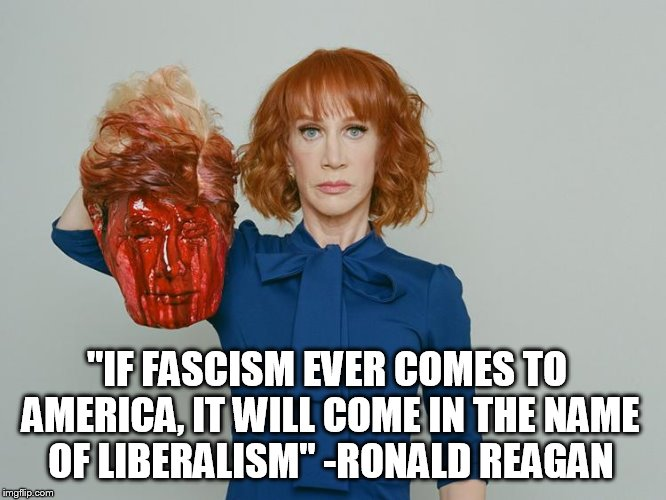 """IF FASCISM EVER COMES TO AMERICA, IT WILL COME IN THE NAME OF LIBERALISM"" -RONALD REAGAN 
