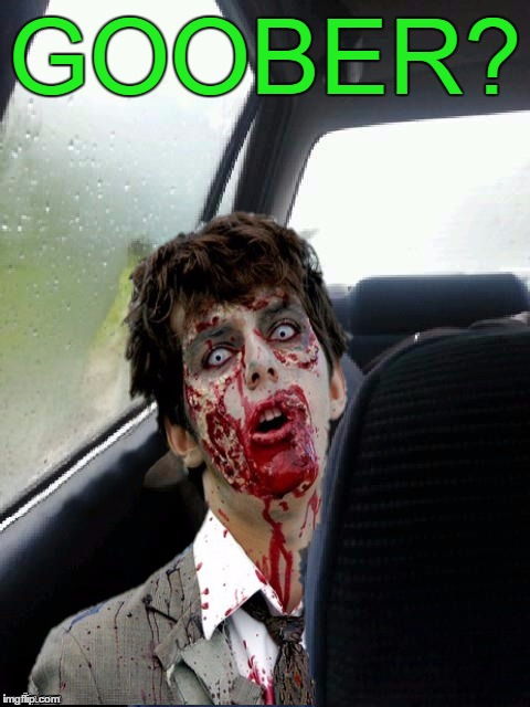 Introspective Zombie | GOOBER? | image tagged in introspective zombie | made w/ Imgflip meme maker