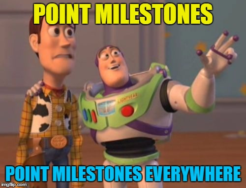 Lots of users hitting milestones today | POINT MILESTONES POINT MILESTONES EVERYWHERE | image tagged in memes,x,x everywhere,x x everywhere,imgflip points,milestones | made w/ Imgflip meme maker