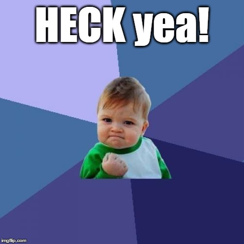 Success Kid Meme | HECK yea! | image tagged in memes,success kid | made w/ Imgflip meme maker