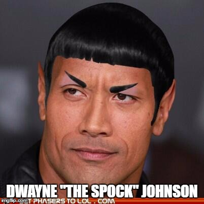 "Dwayne ""The Spock"" Johnson 