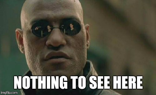 Matrix Morpheus Meme | NOTHING TO SEE HERE | image tagged in memes,matrix morpheus | made w/ Imgflip meme maker
