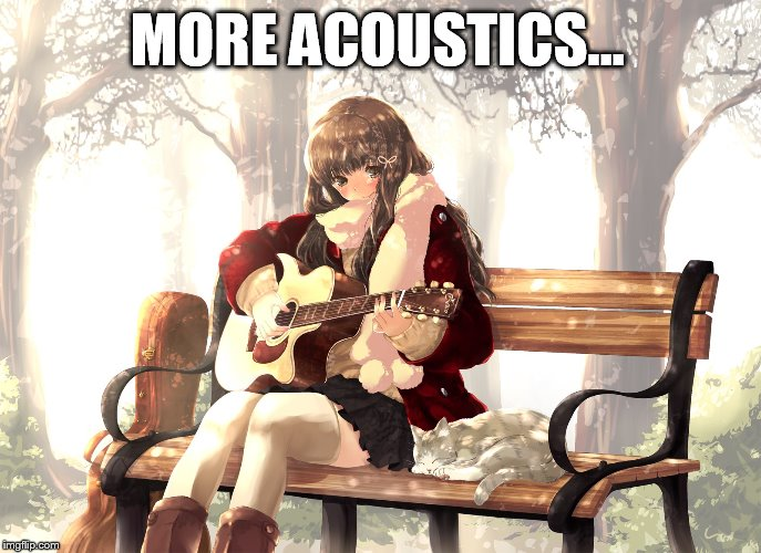 MORE ACOUSTICS... | made w/ Imgflip meme maker