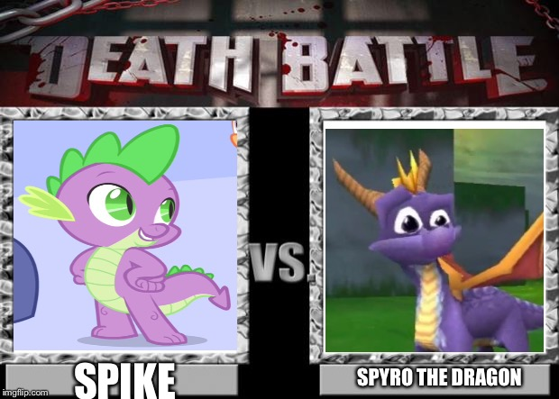 death battle | SPYRO THE DRAGON SPIKE | image tagged in death battle | made w/ Imgflip meme maker