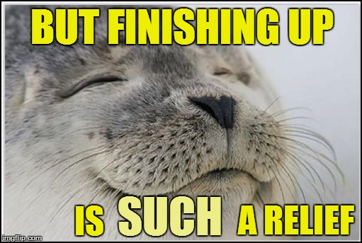 BUT FINISHING UP A RELIEF IS SUCH | made w/ Imgflip meme maker