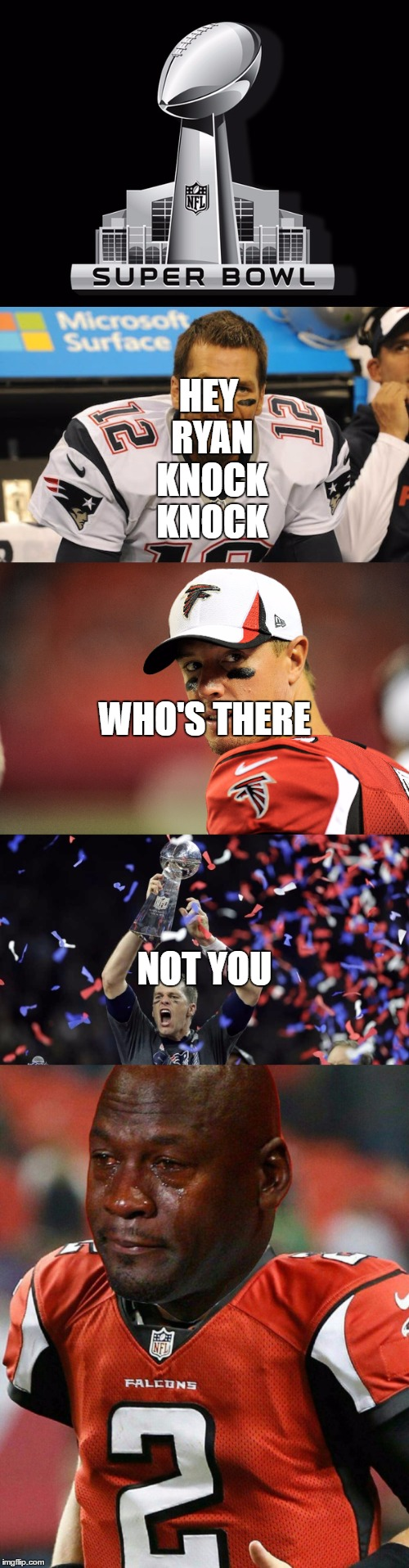 patriots win superbowl 51 | WHO'S THERE HEY RYAN KNOCK KNOCK NOT YOU | image tagged in memes | made w/ Imgflip meme maker