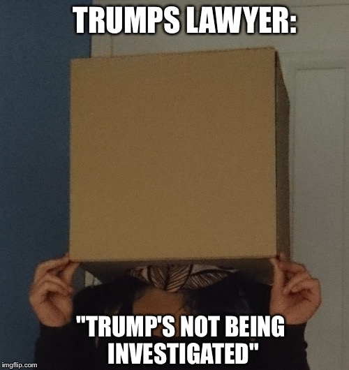 "TRUMPS LAWYER: ""TRUMP'S NOT BEING INVESTIGATED"" 