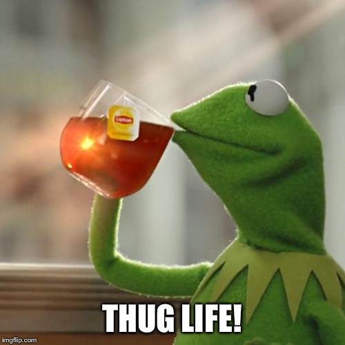But Thats None Of My Business Meme | THUG LIFE! | image tagged in memes,but thats none of my business,kermit the frog | made w/ Imgflip meme maker