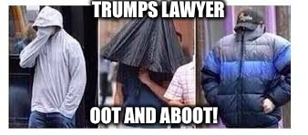 TRUMPS LAWYER OOT AND ABOOT! | made w/ Imgflip meme maker
