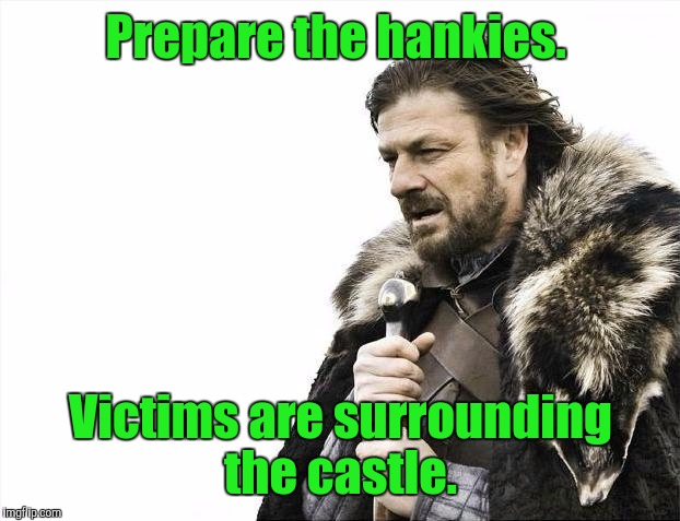 Brace Yourselves X is Coming Meme | Prepare the hankies. Victims are surrounding the castle. | image tagged in memes,brace yourselves x is coming | made w/ Imgflip meme maker