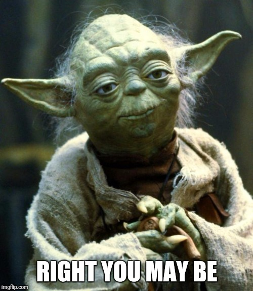 Star Wars Yoda Meme | RIGHT YOU MAY BE | image tagged in memes,star wars yoda | made w/ Imgflip meme maker