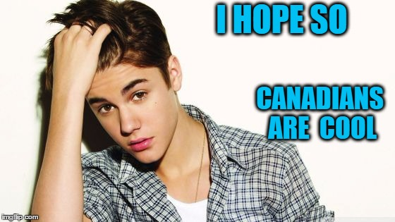 justin  | I HOPE SO CANADIANS ARE  COOL | image tagged in justin | made w/ Imgflip meme maker