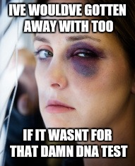 IVE WOULDVE GOTTEN AWAY WITH TOO IF IT WASNT FOR THAT DAMN DNA TEST | made w/ Imgflip meme maker