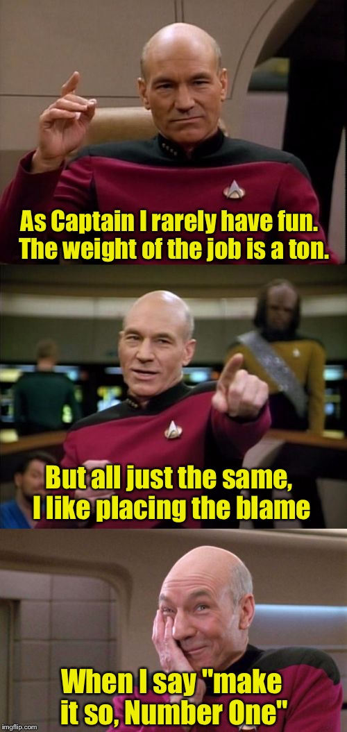 "Limerick Week (a MnMinPhx event) | As Captain I rarely have fun.   The weight of the job is a ton. When I say ""make it so, Number One"" But all just the same, I like placing th 