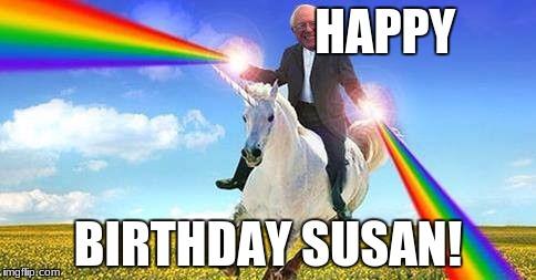 Bernie Sanders On Magical Unicorn Imgflip