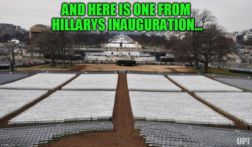 AND HERE IS ONE FROM HILLARYS INAUGURATION... | made w/ Imgflip meme maker