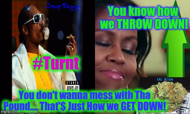 You don't wanna mess with Tha Pound.... That'$ Just How we GET DOWN! You know how we THROW DOWN! #Turnt | made w/ Imgflip meme maker