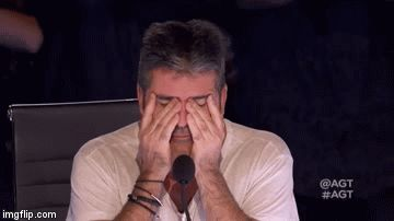 High Quality Frustrated Simon Cowell Blank Meme Template