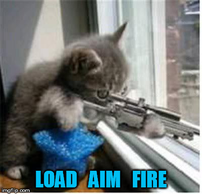 LOAD   AIM   FIRE | made w/ Imgflip meme maker
