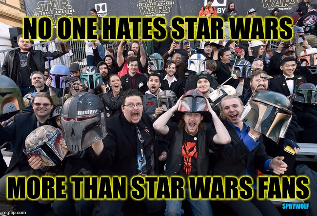 Rings true more than they realize |  NO ONE HATES STAR WARS; MORE THAN STAR WARS FANS; SPRYWOLF | image tagged in star wars,star wars fan,hate,star wars treu canon,star wars meme,disney star wars | made w/ Imgflip meme maker