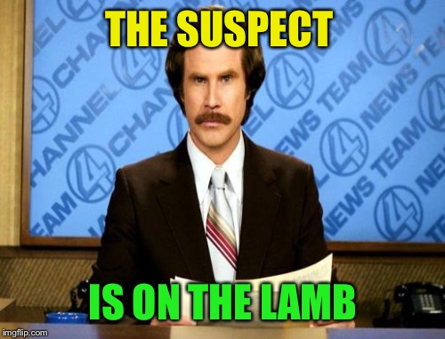 THE SUSPECT IS ON THE LAMB | made w/ Imgflip meme maker