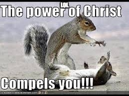 Spiritual animals go unnoticed.. | LOL | image tagged in the power of christ,squirrels,the power of christ compels you | made w/ Imgflip meme maker