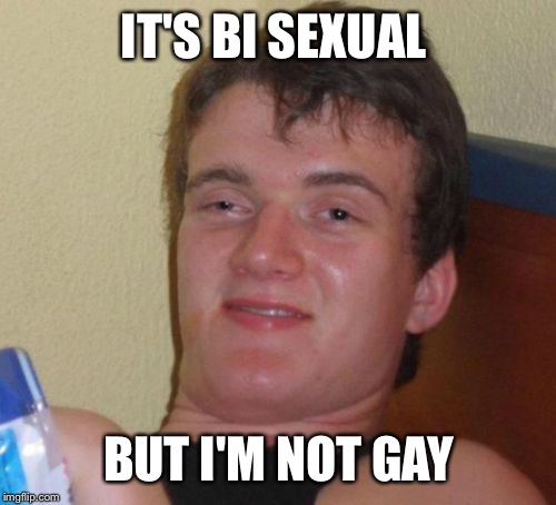 10 Guy Meme | IT'S BI SEXUAL BUT I'M NOT GAY | image tagged in memes,10 guy | made w/ Imgflip meme maker