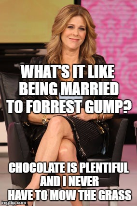 "Rita Wilson, married to Tom Hanks, opens up about being ""Forrest Gump's"" wife. 