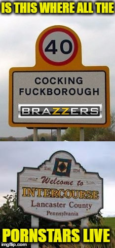 Ron Jeremy's Home Town  | IS THIS WHERE ALL THE PORNSTARS LIVE | image tagged in funny signs,porn star,memes,funny,funny road signs | made w/ Imgflip meme maker