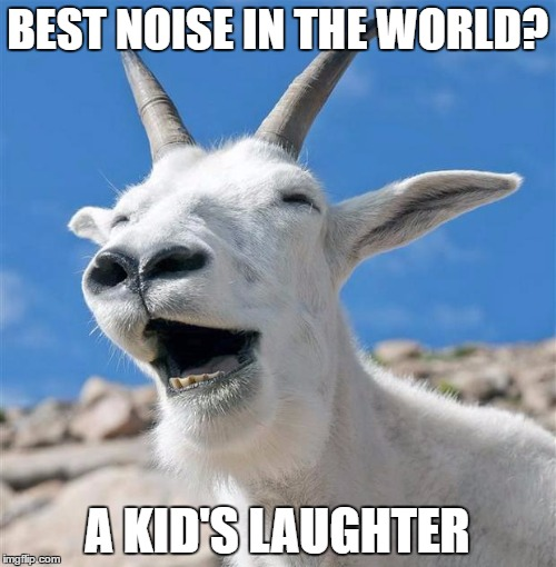 BEST NOISE IN THE WORLD? A KID'S LAUGHTER | made w/ Imgflip meme maker