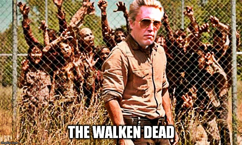 More cowbell productions presents... | THE WALKEN DEAD | image tagged in christopher walken,the walking dead | made w/ Imgflip meme maker