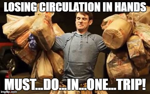 LOSING CIRCULATION IN HANDS MUST...DO...IN...ONE...TRIP! | image tagged in one trip | made w/ Imgflip meme maker