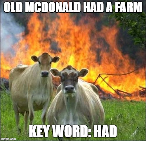 "Really emphasise the ""had"" 