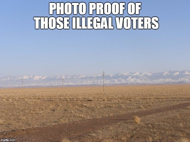 PHOTO PROOF OF THOSE ILLEGAL VOTERS | made w/ Imgflip meme maker