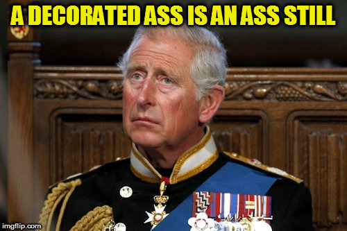 A DECORATED ASS IS AN ASS STILL | image tagged in kedar joshi,prince charles,ass,medals | made w/ Imgflip meme maker
