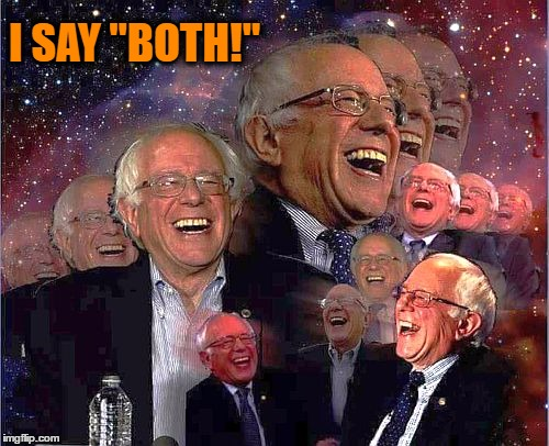 "Bernie Laff | I SAY ""BOTH!"" 