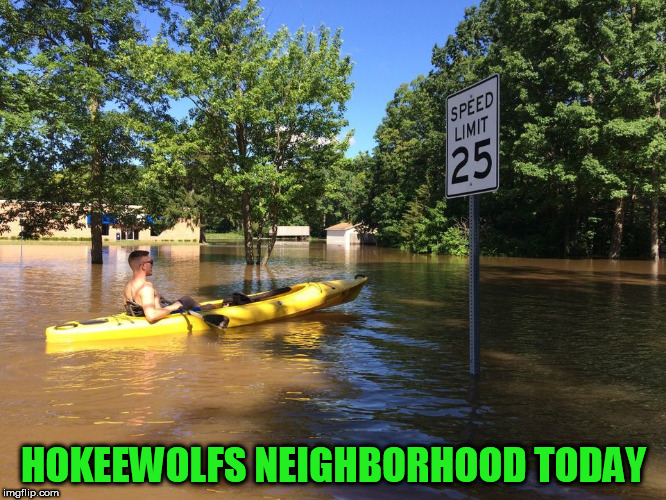 Massive rain in our neck of the woods. This area is about 15 miles north. Lucky I am high and dry! | HOKEEWOLFS NEIGHBORHOOD TODAY | image tagged in flooded,michigan | made w/ Imgflip meme maker