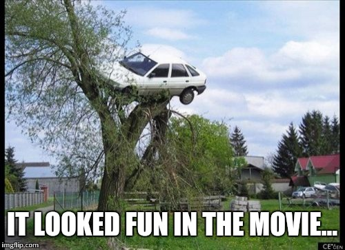 Weasley Parking | IT LOOKED FUN IN THE MOVIE... | image tagged in memes,secure parking,ron weasley | made w/ Imgflip meme maker