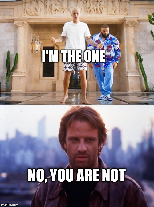 Connor MacLeod say NO | I'M THE ONE NO, YOU ARE NOT | image tagged in bieber,memes,macleod,im the one,there can be only one | made w/ Imgflip meme maker