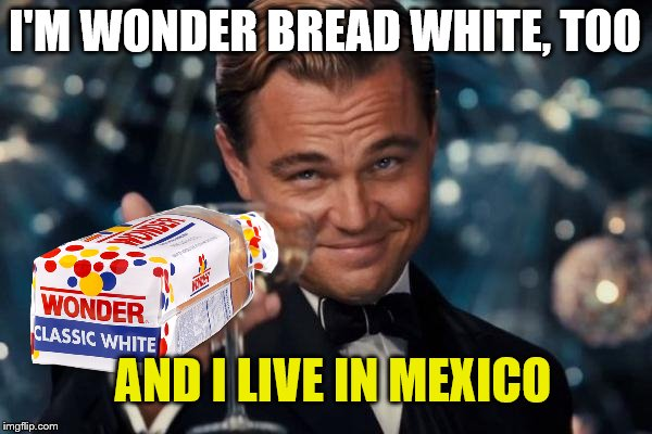 I'M WONDER BREAD WHITE, TOO AND I LIVE IN MEXICO | made w/ Imgflip meme maker