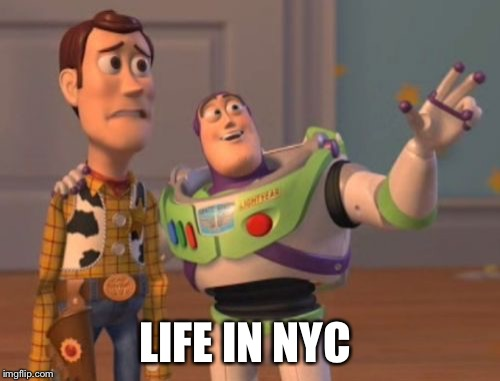X, X Everywhere Meme | LIFE IN NYC | image tagged in memes,x,x everywhere,x x everywhere | made w/ Imgflip meme maker