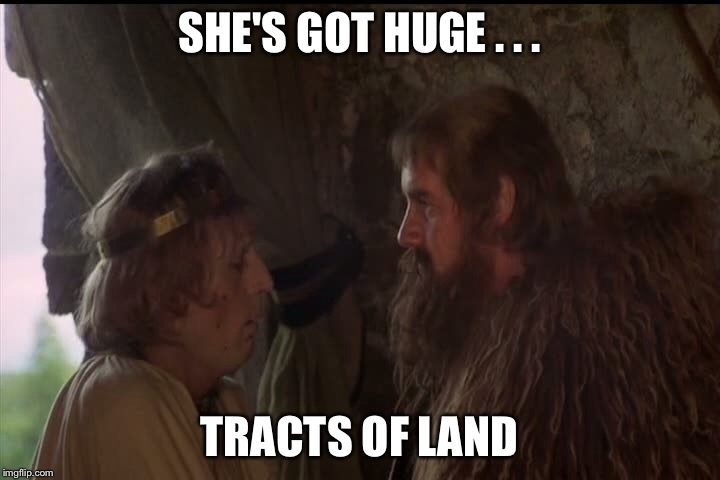 SHE'S GOT HUGE . . . TRACTS OF LAND | made w/ Imgflip meme maker