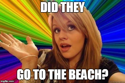 DID THEY GO TO THE BEACH? | made w/ Imgflip meme maker