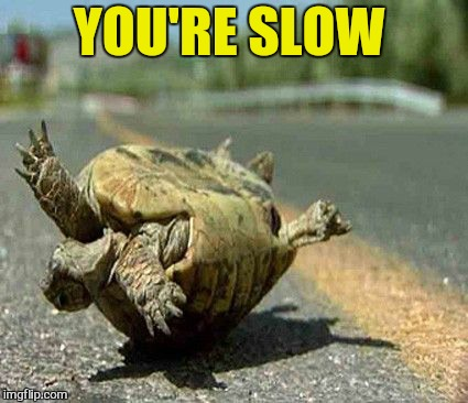 YOU'RE SLOW | made w/ Imgflip meme maker