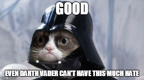 GOOD EVEN DARTH VADER CAN'T HAVE THIS MUCH HATE | made w/ Imgflip meme maker