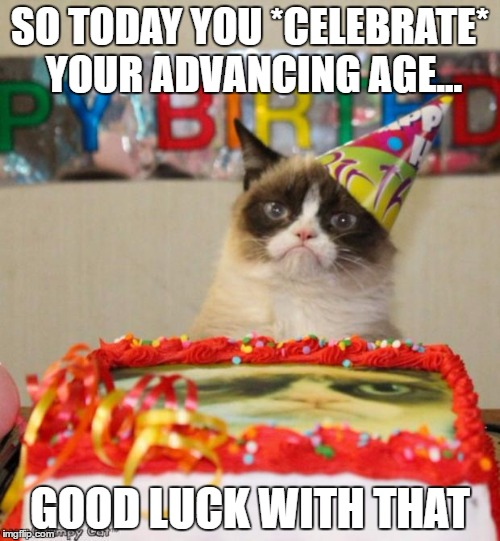 """Happy"" Birthday from Grumpy Cat 